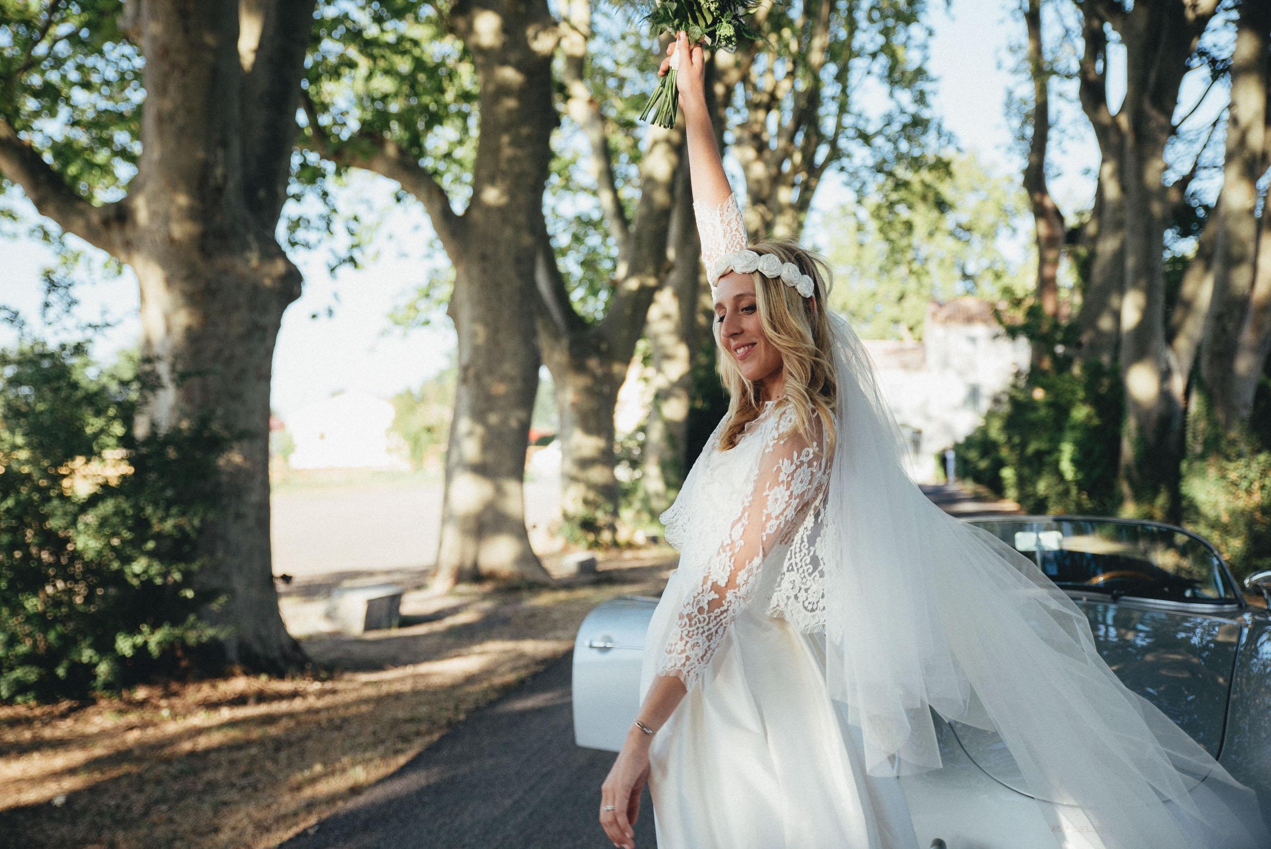 Mariage C & A Photographe © Monsieur + Madame - Robe © Rue de Seine/Olympe - Lieu © Mas Merlet