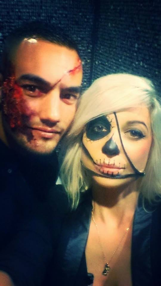 Make up Halloween pour le staff du Milk et du Folies MONTPELLIER