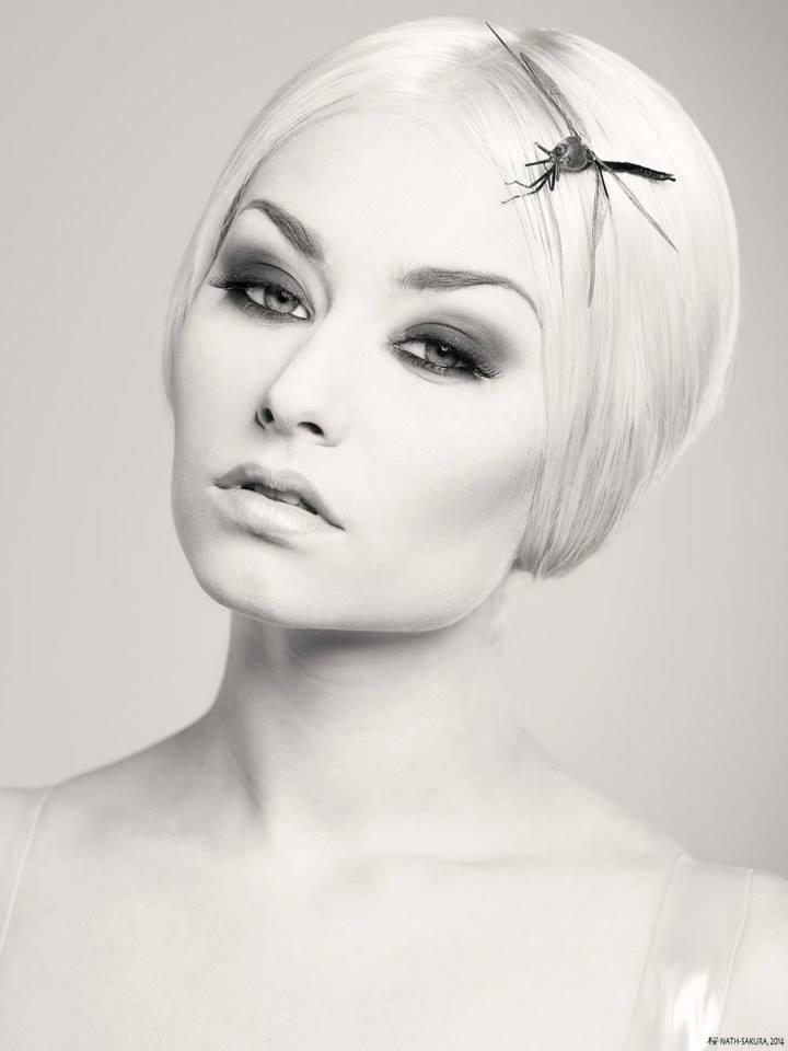 Photographe © Nath-Sakura Modele : Romanie Smith - Coiffeur © Christophe Pujol