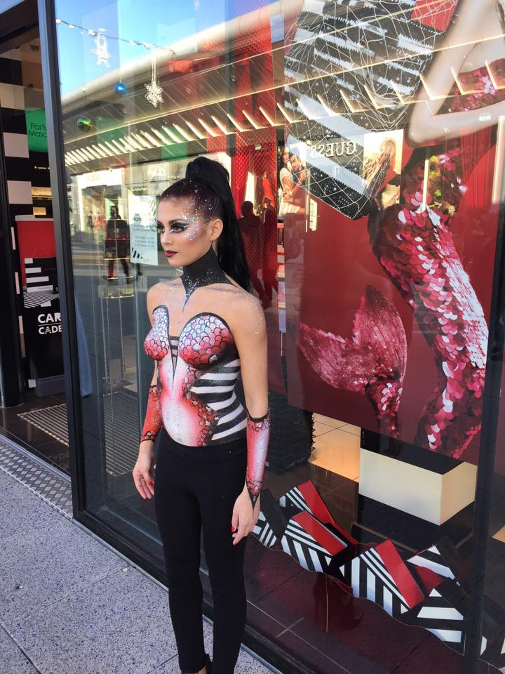Demi Body Painting pour Make Up For Ever et Sephora - Montpellier