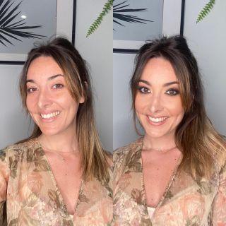 - TRAINING -  Avant/après de @n0une ❤️ lors d'un entraînement en vue d'un futur tournage.  #beforeafter #avantaprès #makeup #makeuptransformation #mup #mua #beauty #bff #smiling #training #maquillage #maquilleusemontpellier