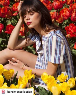 - PUBLICATION WEB -  Maquillage pour @bensimoncollection  #bensimon #shoot #shooting #publication #flowers #makeup #mup #mua #maquillage #lipstick #collection #clothes #brand #summer #model #modeling #instagram #web